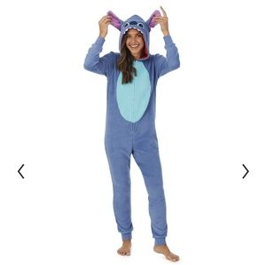 (Disney) Women's Stitch Fleece Pajama Onesie Small